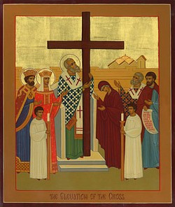 Icon of the Exaltation of the Precious Cross by Robin Armstrong